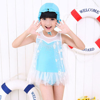 2014 Hot Sale Girl Dress Print Dress Brand Frozen Elsa's  Girl Party Dress Brand Children's Clothes Free Shipping