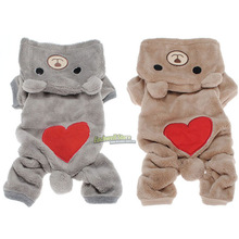 Bear Clothes Pet Dog Clothes Teddy  Autumn Winter Puppy Apparel Pets Clothes Free Shipping(China (Mainland))