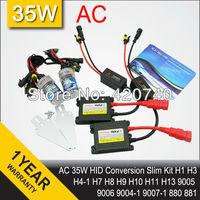 Free Shipping 35W AC HID Conversion Headlight Xenon Kit Light Bulb H1 H3 H4-1 H7 H8 H9 H10 H11 H13 9004 9005/HB3 9006/HB4 9007