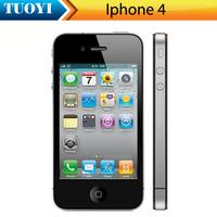 Original Iphone 4 refurbished mobile phone 5MP Camera 3G Wifi GPS 3.5'' touch phone 16GB version