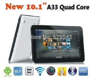 2014 новые дешевые планшет пк 10 дюймов 1024 * 600 четырехъядерный процессор Allwinner A23 а33 андроид 4.4 1 г 8 г / 16 г двойная камера + подарки