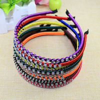 1 piece new 2015 arrival fashion 50mm width rhinestone hair band women headband girls hair hoop hair accessories headwear