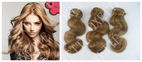 "Oxette Fashion Ombre Highlighted Color #27/30 Virgin Brazilian Human Hair Weave Body Wave 12""-30""  blonde 3 or 4 bundles"