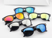 Hot 2014 New Miding children reflective glasses rivet kids sunglasses Wayfarer Baby Size Sun Glasses Mixed 5 Colors 20pcs/lot