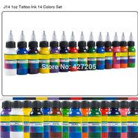 Professional Tattoo Ink Tattoo Pigment Complete Set 14 Colors 1oz 30ml Tattoo Supplies for Body Tattoo Art