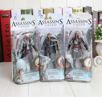 1piece 14cm Assassins Creed 4 Black Flag Connor Haytham Kenway Edward Kenway PVC Action Figure Toys new arrival
