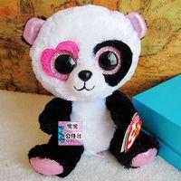TY big eyes plush toys soft doll 15cm stuffed panda animal doll for baby gift  sochi 2014 Beanie Boos