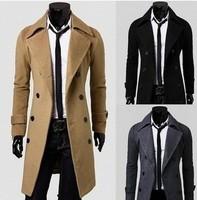FREE SHIPPING,New men's fashion Suit coats long suit for men,stand collar.men's business suit2461