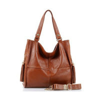 2014 new design popular cow leather bags,leather handbags,Cowhide one shoulder messenger bag for women,black and brown wholesale