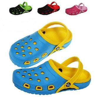 Горячая распродажа новый 2015 лето EVA высокое качество дышащий детская обувь отверстие отверстие сандалии мальчики девочки тапочки дети пляж sandalias