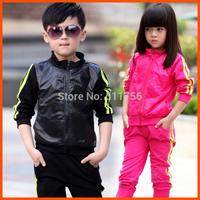 children outerwear sportswear twinset jogging jacket + pants boys girls sport set tracksuits shampooers spring autumn clotheing