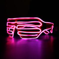 1PCS NEW El cold light led glasses louver window blurter Shutter led glasses for parties flicker Orange lighting
