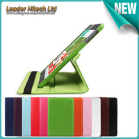 leahter tablet case Shockproof Drop resistance Anti-Dust Solid wake up and sleep model  smart cover for  pad mini