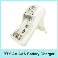 BTY High Speed Quick Charger for AA AAA 9V Rechargeable Battery Ni-HM Ni-Cd Standard Batteries 100-240V N812B Drop Shipping