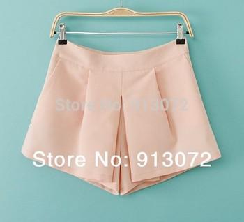 DK126 New Fashion Ladies' Elegant pleated shorts skirts casual Slim brand designer shorts hot girl's 4 colors 4 size (S-XL)