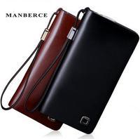 brand wallet men long design zipper black genuine leather wallets purse men multi clutch bag bag mens wallet carteira masculina