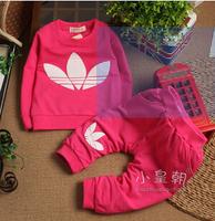 wholesale--2014 new Free shipping baby children 2pcs set T-shirt+ pants leisure short-sleeved cotton clothes set 4sets/lot