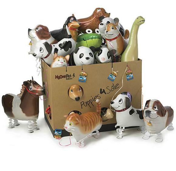 3Pcs/lot Walking Pet Balloon Cartoon Animal Printed Elephant Dog Tiger Ladybug Panda More Kinds Option Best Gift For Kids(China (Mainland))