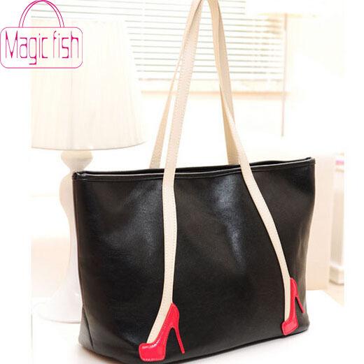 Magic fish! 2015 new free shipping hot new women's handbag women leather handbag high heels bags shoulder bags HL1729(China (Mainland))