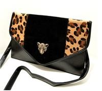 Free shipping! leopard print bag , Hand bag,Single shoulder bag,Women's Day Clutches Evening bag