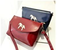 2014 women bags fashion women's messenger bags women's leather bags horse bag pu leather Free Shipping
