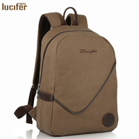 New 2014 Summer Middle School High School Students School Backpacks Vintage Canvas Rucksack Men Large Capacity,Free Shipping