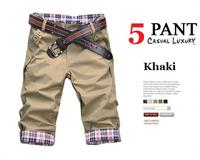 Hot!Men slim Leisure Short Pants,Men Casual Pants capris,shorts men,10color,Size:M-XXL,100%guarantee,drop shipping