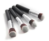4pcs/lot Professional Powder Brush Facial Care Facial Beauty Cosmetic Stipple Makeup Tools Makeup Brush Loose Foundation Brush
