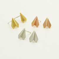 18K Gold Plated beautiful fashion jewelry Stud Earrings for women Wholesale 10 pce/lot mix color