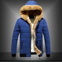 New Men Winter Jacket Men 2014 High Quality Thick Parka Men Long Sleeve Overcoat Fashion Wool Inner Winter Hooded Parkas for Men