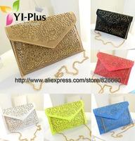 2014 vintage national women's trend handbag cutout envelope bag day clutch bag shoulder bag cross-body bag