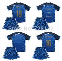 Soccer Jerseys Argentina Kids Uniform Kit Argentina Kids 2014 Messi KUN AGUERO Boys Football Shirt+short Sets Argentina Youth