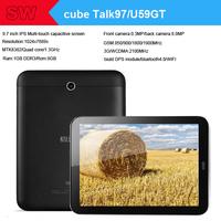 2014 new 9.7 inch Cube U59GT Talk97 3G Phone Call gps Tablet pc MTK8382/Quad Core/1.3GHz  1GB/8GB Wifi Bluetooth FM 8.0MP camera