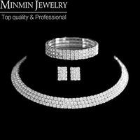 New 2014 Classic Circle Czech Rhinestone Crystal Wedding Jewelry Sets African Jewelry Set Necklace Earrings Bracelet