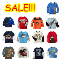 Promotions 2014 new 100% cotton baby boys top long sleeve tshirt  childrens kids blouse chothing full sleeve spring  autumn