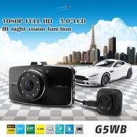 2014 New G5WB H.264 Dual Lens Car Black Box DVR G-Sensor FHD 1080P w/3.0' LCD/Rear Camera/140 Degrees Wide Lens/Allwinner A10