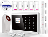 RU FR EN Menu Touch keypad TFT Screen GSM+PSTN Home Security Alarm System Russian for smart  Android app SG-218