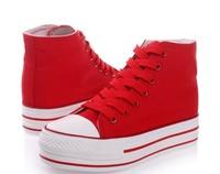 korean fashion students platform shoes breathable casual canvas shoes more colours size35-39 four colors canvas sneakers