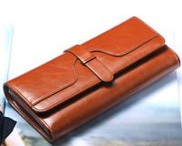 New arrive wallets genuine leather women's wallet long design capacity female card holder