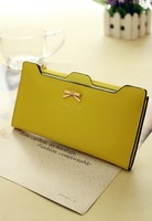 women's  envelope clutch bag long leather Wallet Ladies designer Purse Checkbook Handbag drop shipping