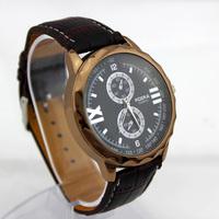 New Brand Men Sports Watches Men's Military Watches Quartz Business Watch  Men Wristwatches Leather Strap Watches Analog