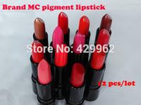 (12Pcs/lot)  Sale Fashion brand MC Sexy Cosmetic Makeup Lipstick Moisture Beautiful Lipsticks  high quality makeup set