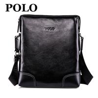 Polo male messenger bag genuine leather shoulder bag business bag men's messenger bag vertical 2013 handbag