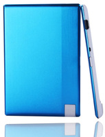 2pcs/lot blue color 850mah moblle power bank for smartphone ultrathin Credit Card power supply free shipping
