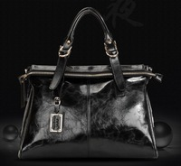 Fashion female vintage wax leather bag women's handbag shoulder bag messenger bag women bag work