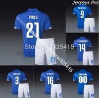 Completini maglia di calcio italia 2014 coppa del mondo italy soccer jerseys uniforms football kits Pirlo balotelli el shaarawy
