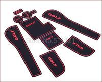 2013-2015 Volkswagen golf 7  GOLF 7 Mk7 Gate Slot Pad,door slot cunshion,tank gasket,non-slip cup mat/pad 9pcs/lot
