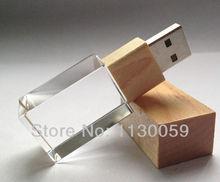 100% real capacity Wooden Crystal seal lanyard usb flash Drive Card Memory Stick Drives 32G 16GB 8GB 4GB pen drive Free Shipping(China (Mainland))