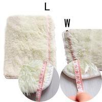 39*59cm--2014 New Arrival Flokati Shaggy Ivory Carpet For Living Dining Bedroom Car/Brand Rug Anti-skid Carpet