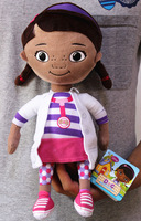 Free shipping 1pcs 30cm=11.8inch Doc Mcstuffins Clinic toy for kids gift,very cute girl plush doll